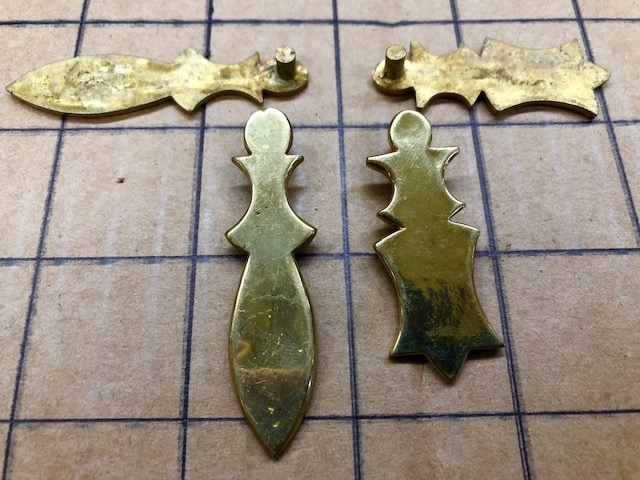 Brass cover for old trunk locks for sale