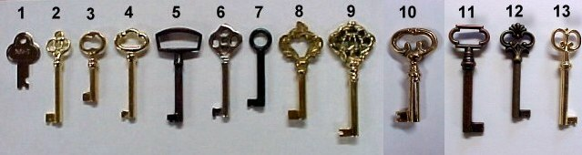 keys to fit old locks