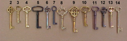 Replacement keys for old locks