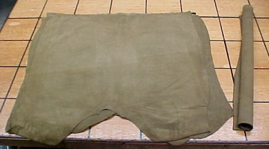 khaki suede leathers for sale