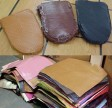 Tannery leather samples