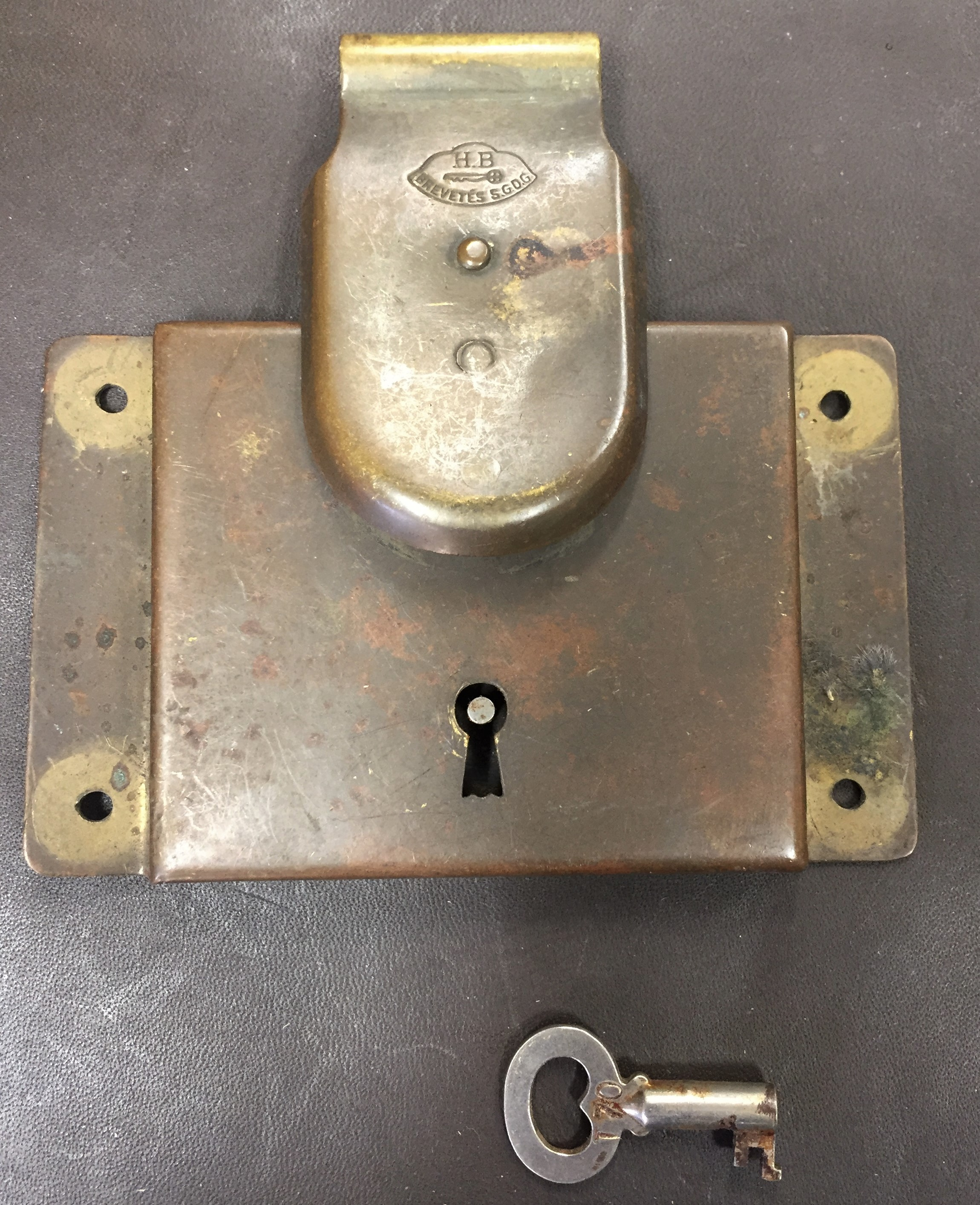 European brass trunk locks for sale