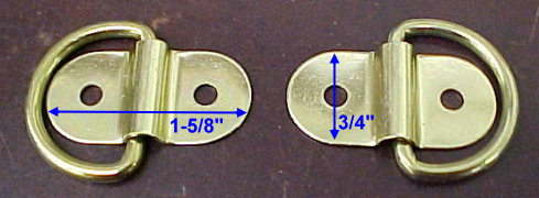 Metal loops for attaching case handles