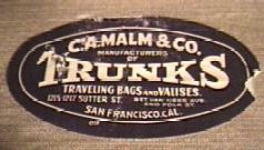 CA Malm & Co Trunk