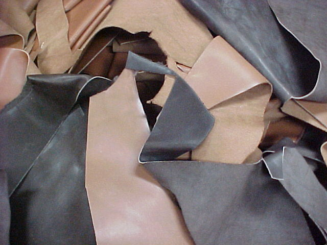 Scrap leather for sale.