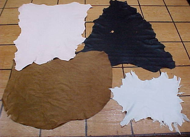 Sheep Leather, Goat Leather, Calf Leather hides