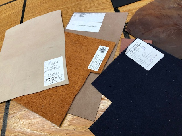 colorful craft leather pieces for sale by the pound