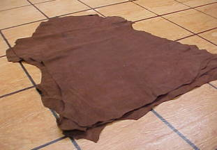 super soft brown suede sheep leather hides for sale