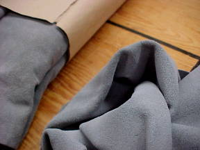 light gray suede soft  leather hides for sale