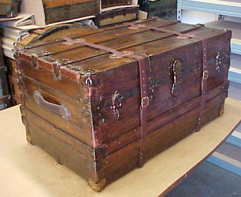 Restored antique trunk