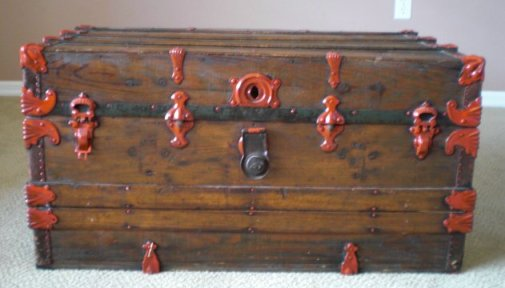 Antique trunk that was painted