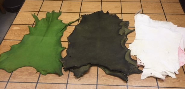 green leather hides for sale