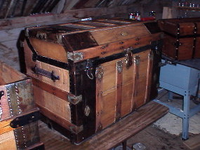 Secor trunk refinished by Brettuns Village