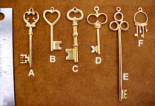 Jewelry keys and necklace keys