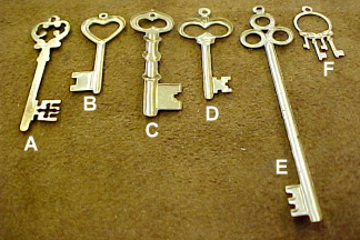 Jewelry keys, necklace keys