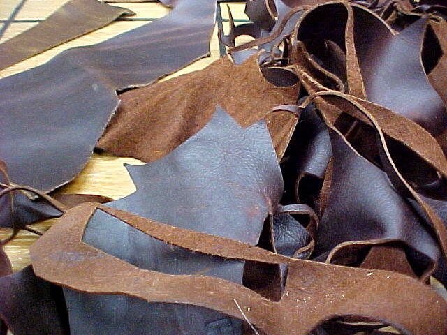 Oil tanned leather pieces for sale