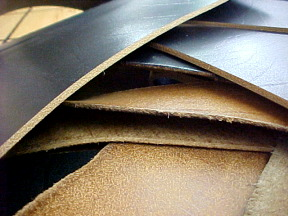 Thick leather pieces, scrap leather for sale