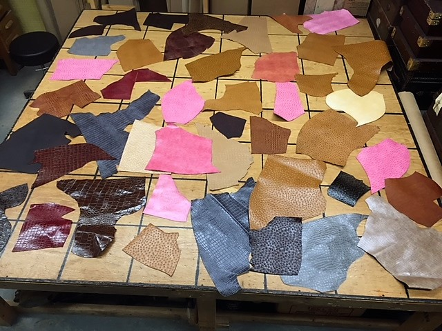 embossed leather hides for sale
