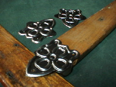 Antique trunk hardware, slat clamps