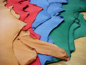 small leather hides for craft projects on sale