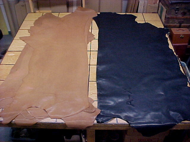 smooth natural leather hides for sale