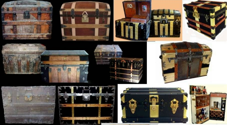 professional steamer trunk refinishing service