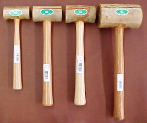 Rawhide mallets for sale, leathercraft mallets