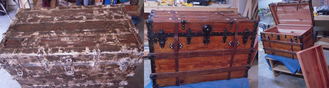 How to remove paint from an old trunk
