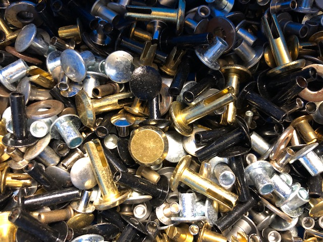 Assortment of rivets for sale in packs