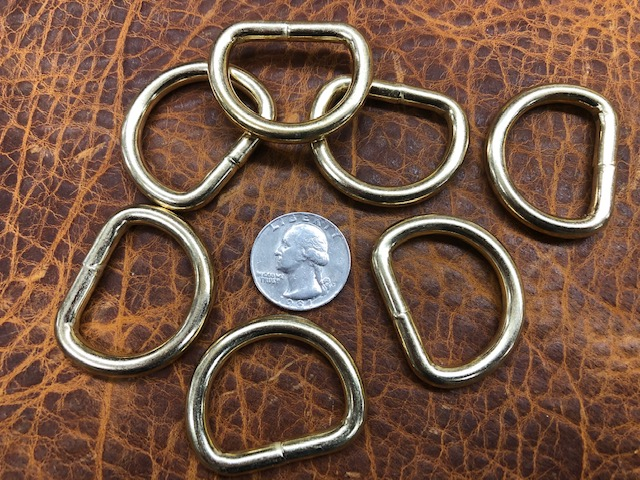 brass one inch d rings for sale