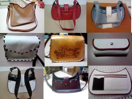 hand made leather purses and hand bags
