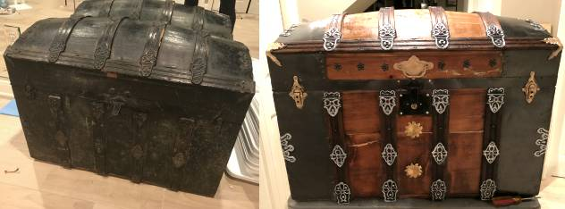 projects using antique steamer trunks and old suitcases
