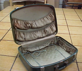 vintage green suitcase for sale