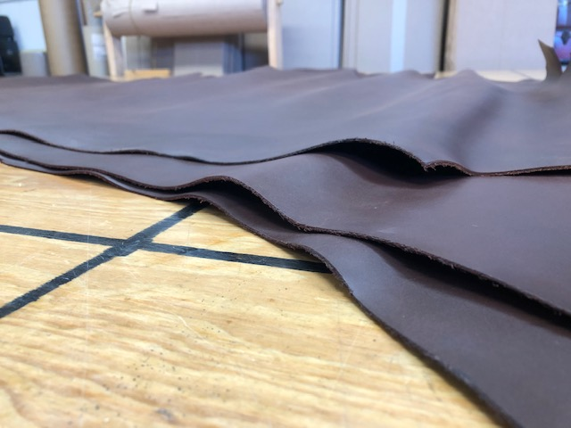 dark chocolate brown leather hides on sale