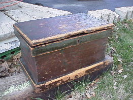 We sell restored antique tool boxes
