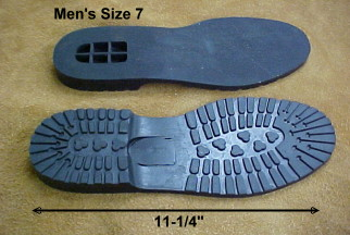 mens size 7 vibram shoe sole