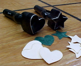 heart shaped punches for leather or plastics for sale