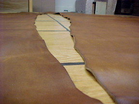 weathered leather hides for sale