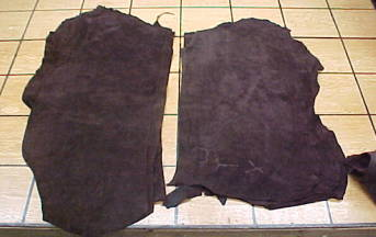 dark brown suede leathers for sale