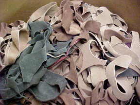 scrap suede leather for sale by the pound