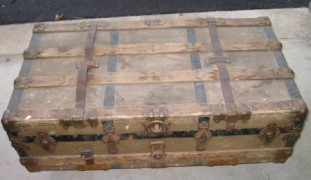 Antique trunk in as-found condition