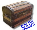 1880s dome top antique trunk for sale