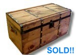Brass button antique trunk for sale