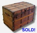 Wooden antique trunk for sale