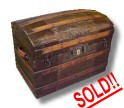 Restored antique dome top trunk for sale