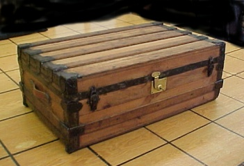 Restored steamer trunk for sale with free USA shipping