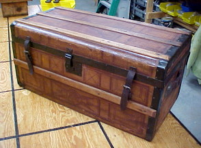 refinished steamer trunks for sale