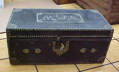 Flat topped antique trunk for sale