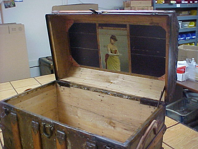Refinished antique trunk for sale