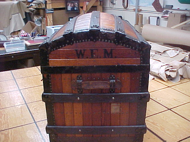 dome topped oak trunk for sale